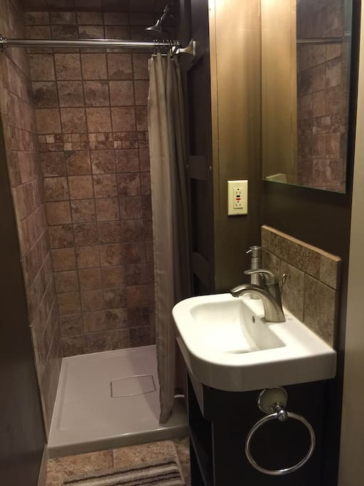 Adjoining private bathroom