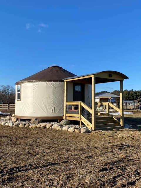 Stay in a YURT on An Equine Rescue Ranch