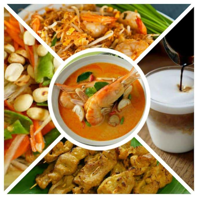 Authentic thai food , No.1 Thai street food is always aroud you