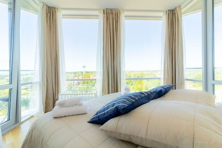 ⥣Sky Blue 2BR Apt, 86m2, With Sea View By Cohost⥣
