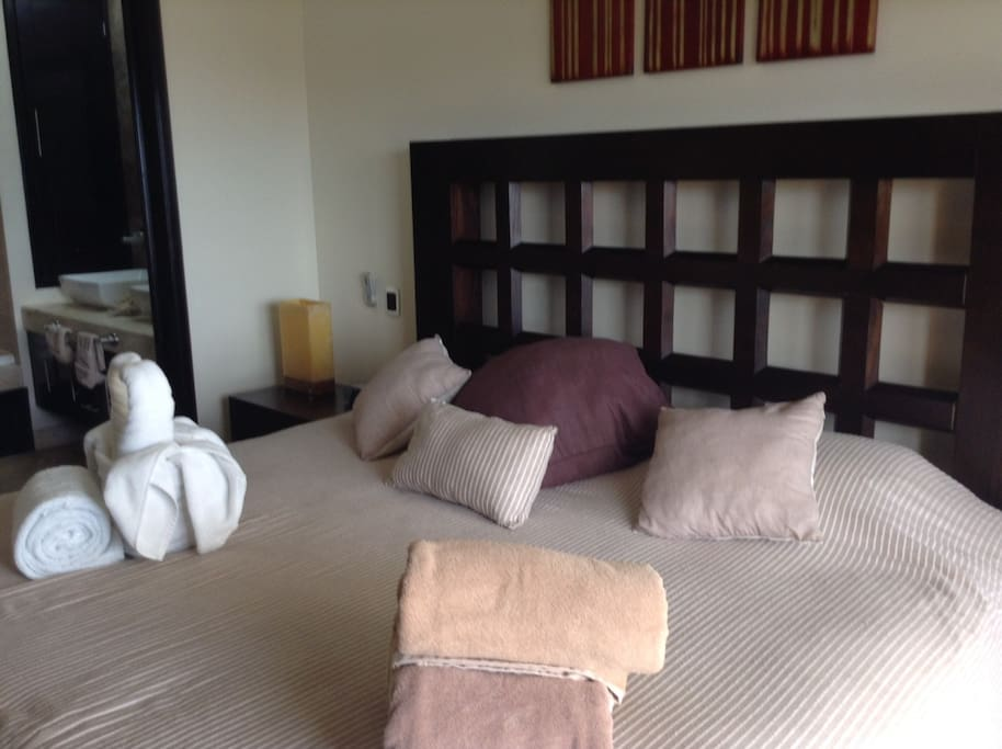 Typical bed/bedroom with separate bath
