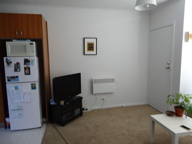 Flat screen tv, wall heater