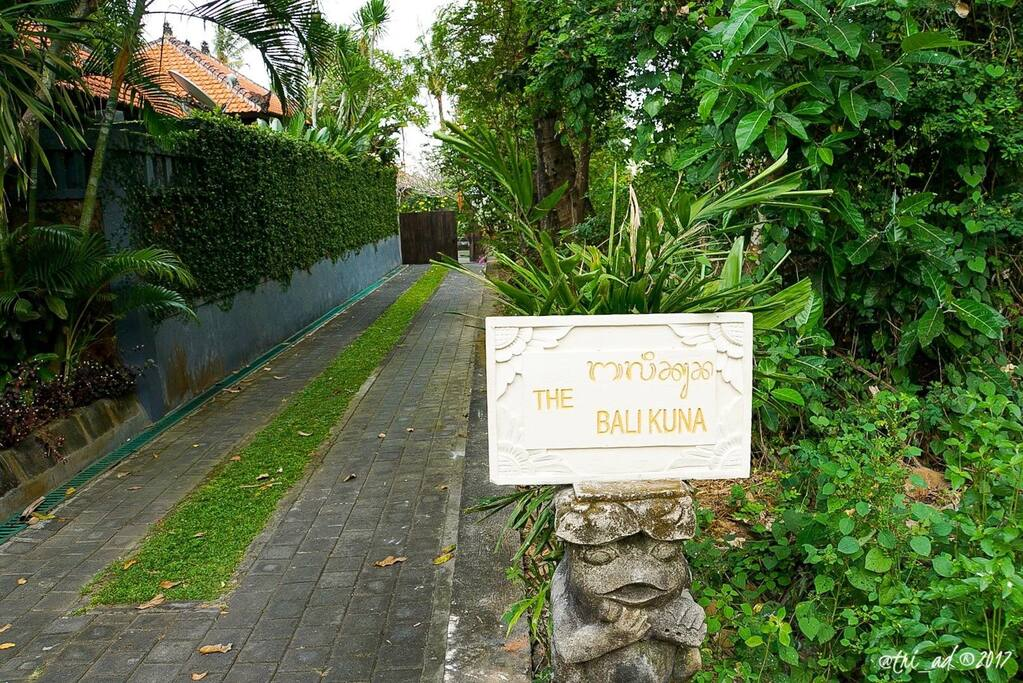 The Bali Kuna entrance gate