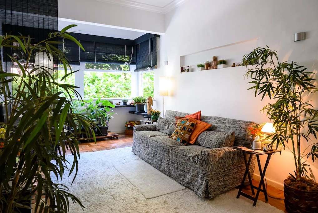 Green and other resting colors set a warm & calm ambiance