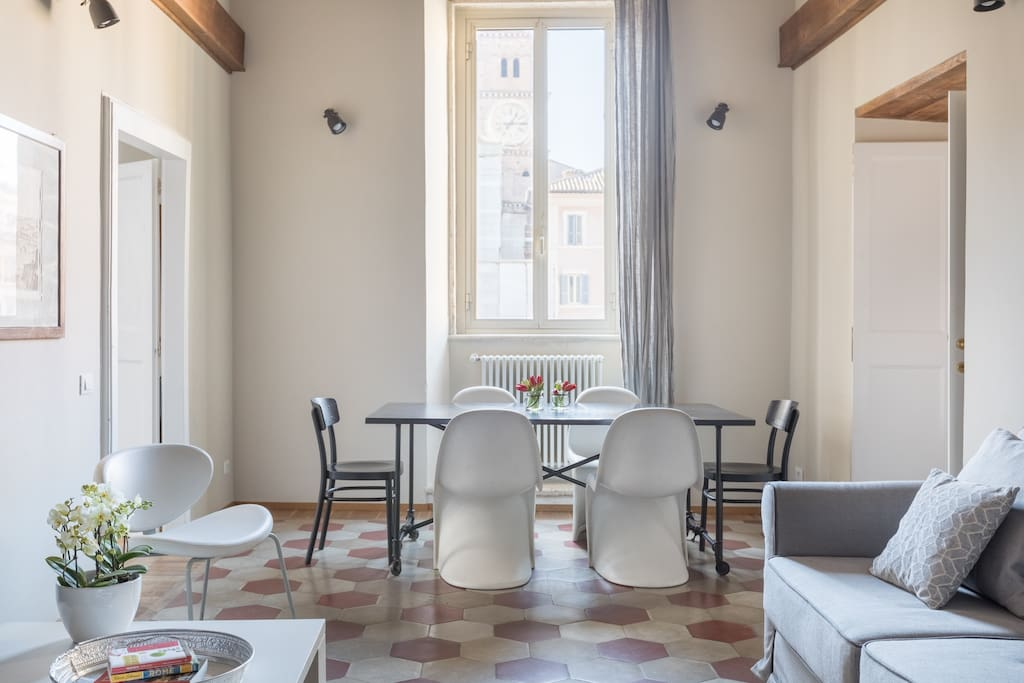Amazing design apartment with view in trastevere for Apartment design rome