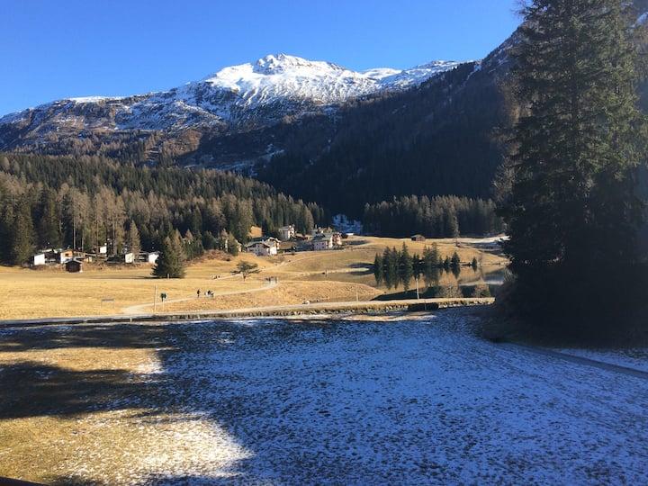 WEF 2020 Stylische 2-Zimmerwohnung am Davosersee