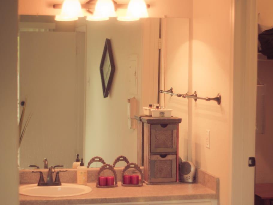 vanity and bath