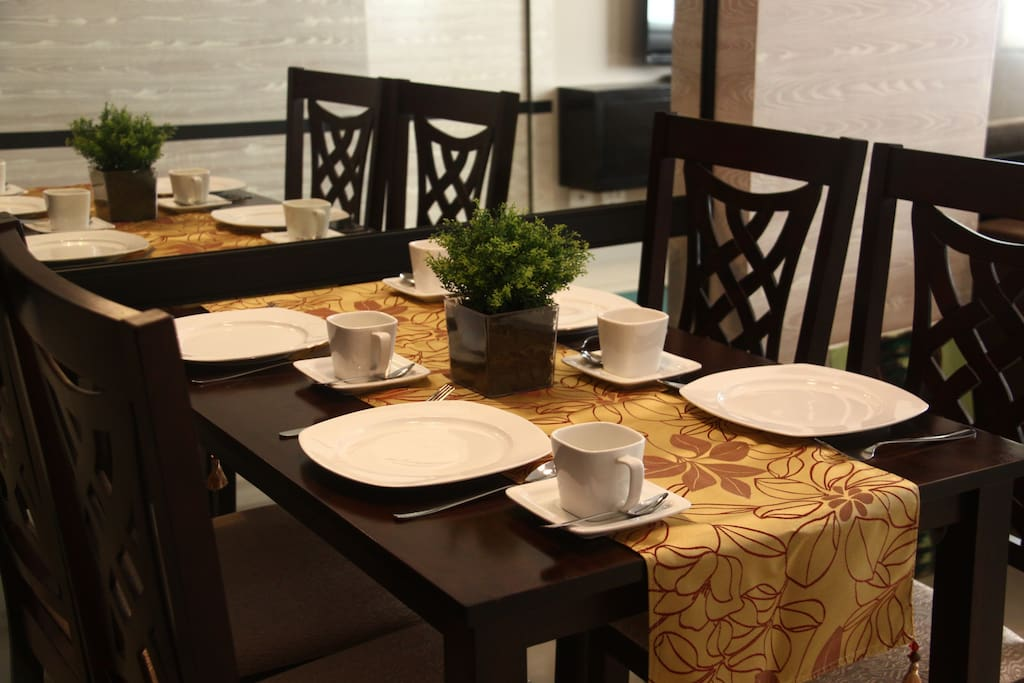 Dining Table and Dining Wares