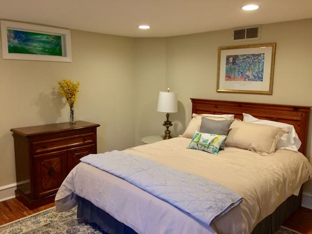 Queen bedroom on second floor near 2nd floor bathroom
