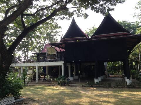 Thai-style teak wood home living