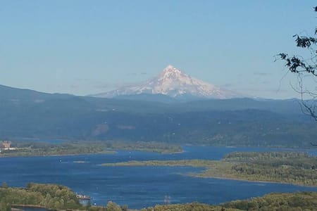 Spectacular View of Mt Hood and Columbia River