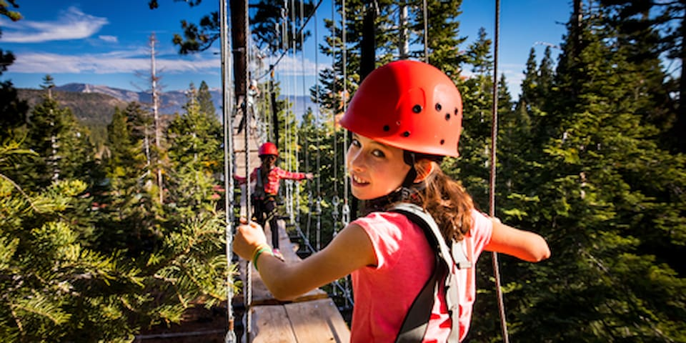 Nearby North Tahoe Regional Park has a family-favorite aerial adventure course