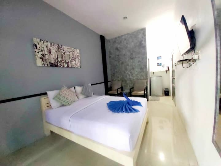 Modern room with terrace 500m from Saikaew beach