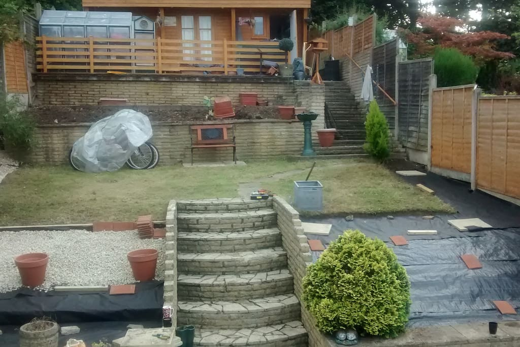 This is our huge garden, feel free to explore and sunbathe or do some gardening if you wish!! Very tranquil area as it backs onto a small conservation area.