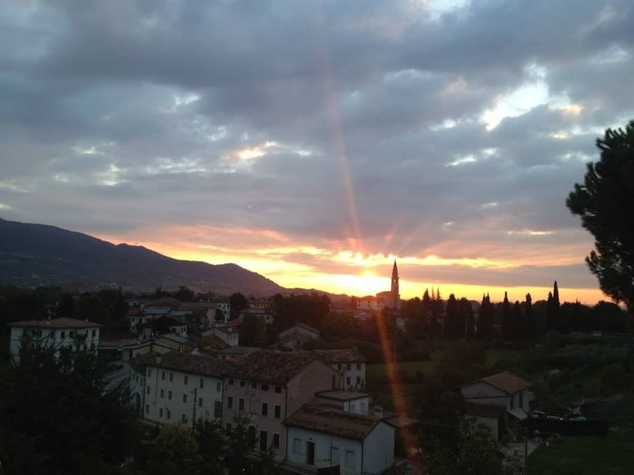 Cappella Maggiore village sunrise view from our house