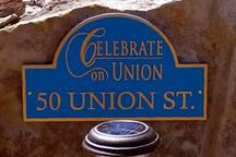 Street plaque.