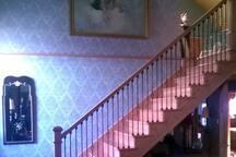 Rebuilt oak staircase.