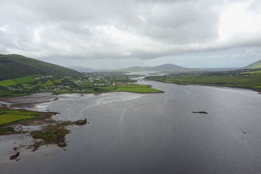 View into the town of Cahersiveen