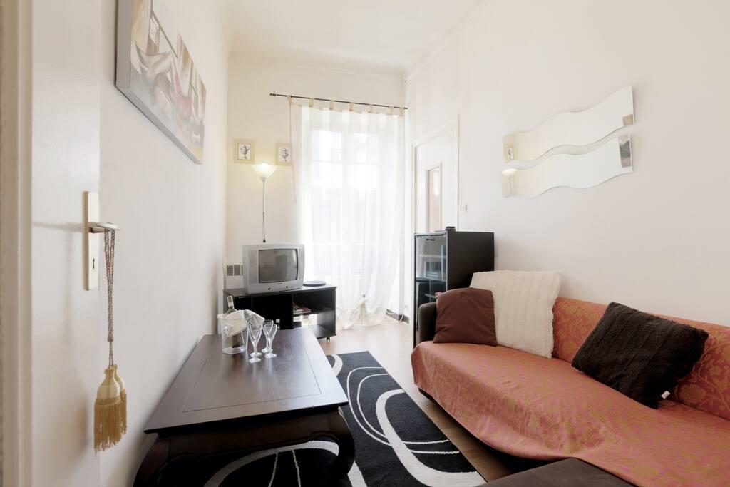 jolie apartement center nice beach appartements louer nice. Black Bedroom Furniture Sets. Home Design Ideas