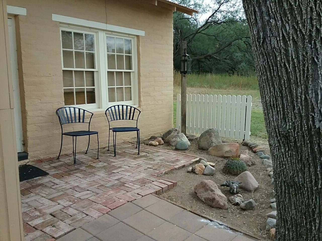 The Private patio is great for quiet evenings and viewing the beautiful Arizona sunsets.
