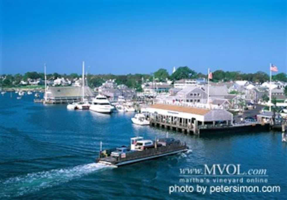 Edgartown Harbor and the Chappaquidick Ferry