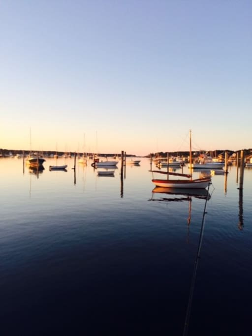 Edgartown Harbor at dusk