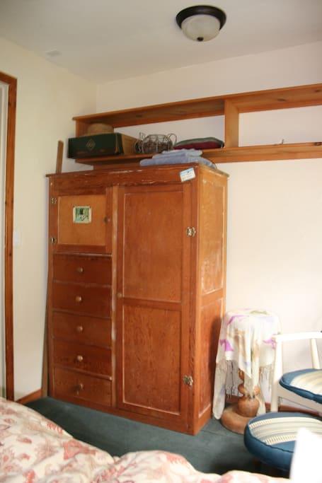 vintage armoire storage closet