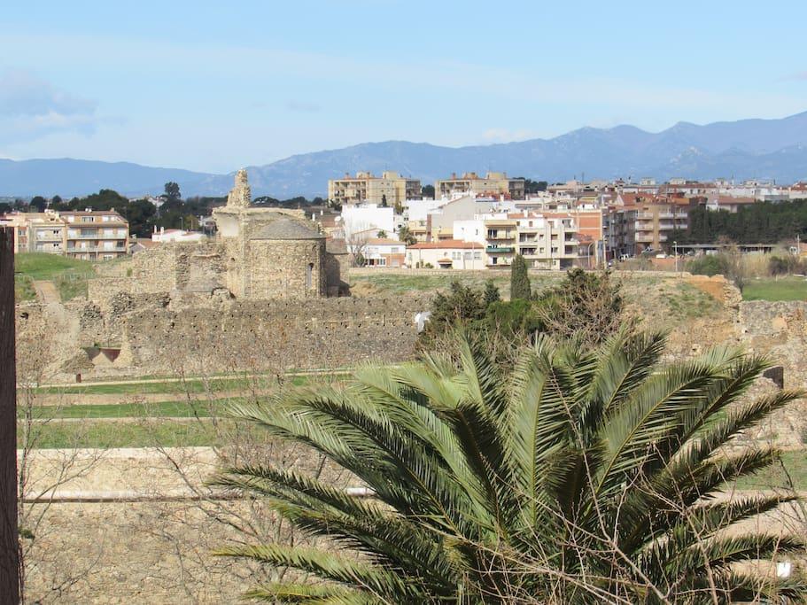 vistas terraza. Ciudadela ruinas grecoromanas