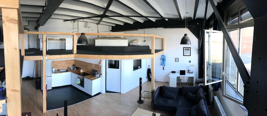 Schöne helle Loft Unterkunft im modernem Stil