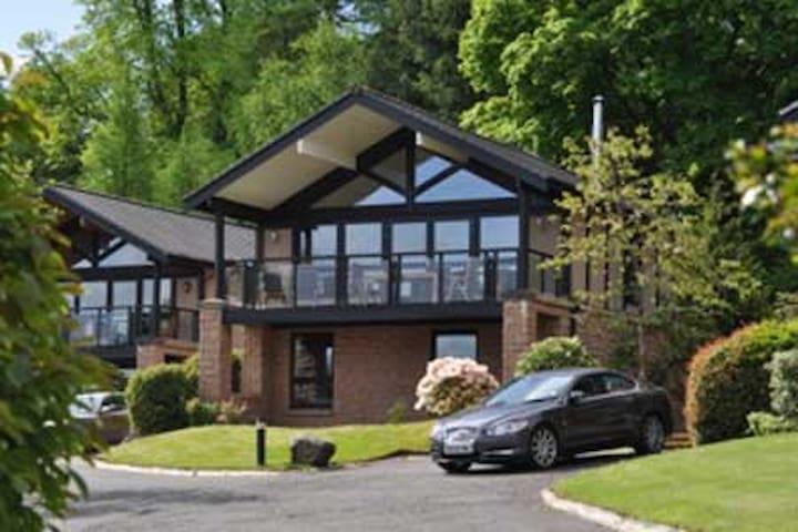 Luxury 3 bedroom Lodge on bank of Loch Lomond - Alexandria - Chalé