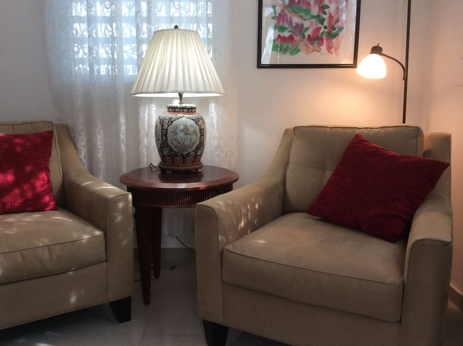 Seating area for reading/TV