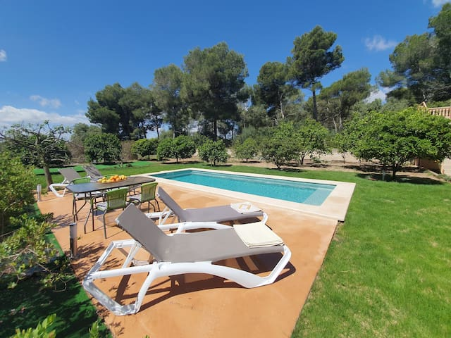 FINCA FAMILY Can Picafort, 1kmBEACH-EXCLUSIVE POOL