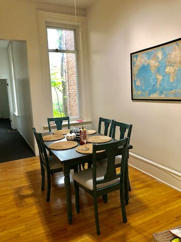 The top floor unit: dining area