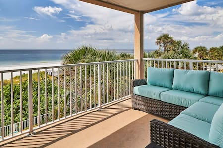 OW304- Stunning, Modern, must see direct Gulf front corner unit, great views, FREE Wi-Fi