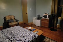Second Room\Living Room with fridge, microwave and coffee maker