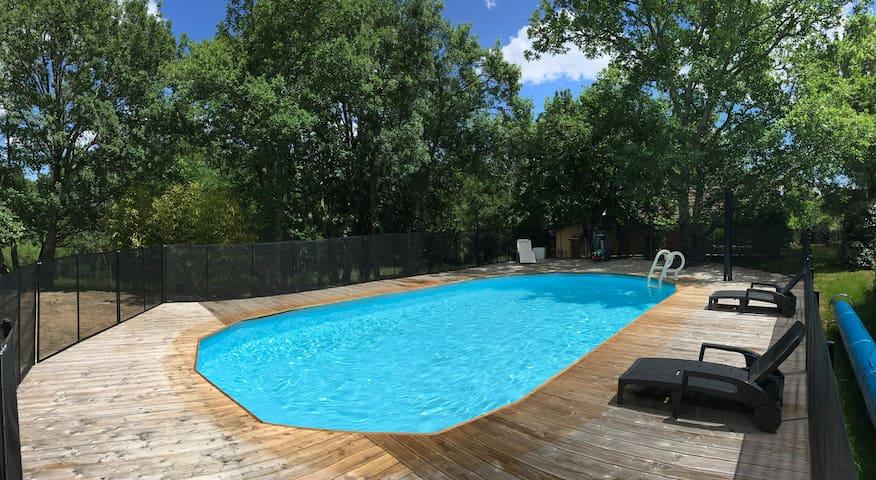 Maison 9 pers avec piscine chauffée & privée
