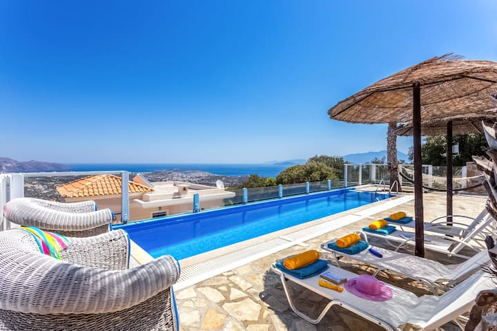 Villa Desire, 2 BD, private pool, sea views