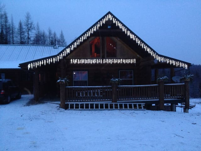 Spacious Log Home that located on 35 acres