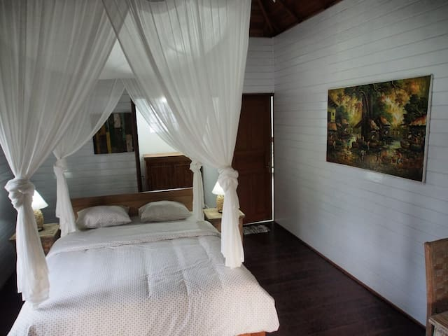 This is bedroom from TN wooden house