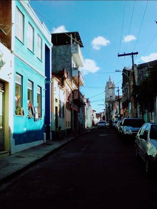 Local exato da pousada na rua direita do santo Antônio