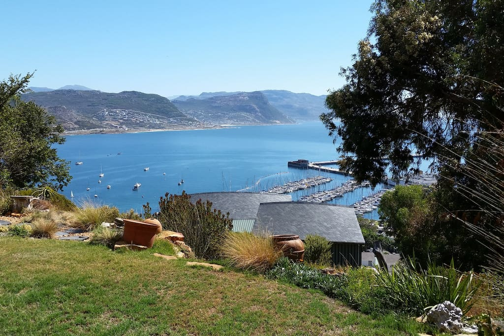 Harbour view from garden