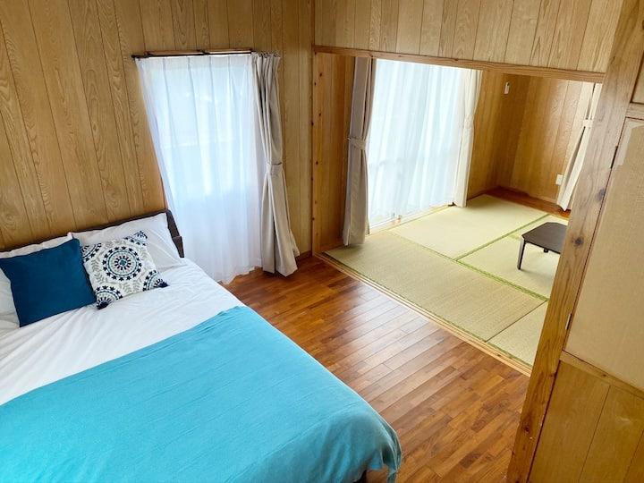 A flat house in the east end of Miyako island
