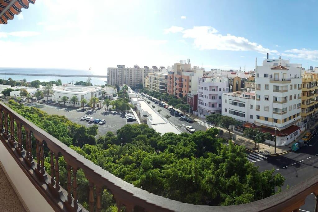Vistas desde el balcón.