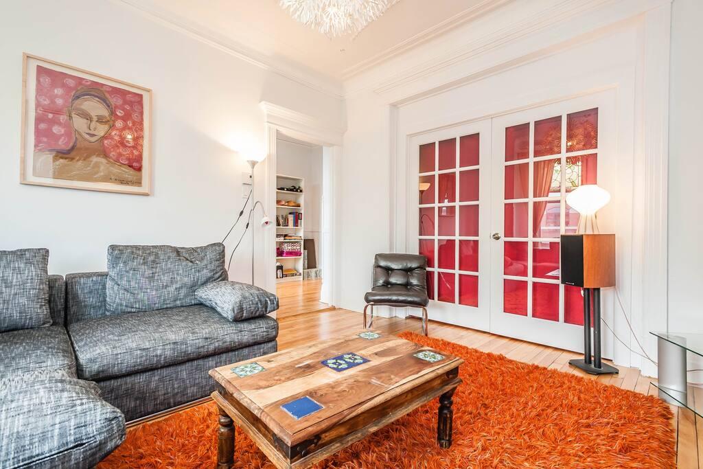 large sunny livingroom