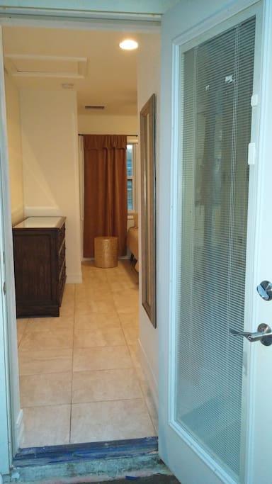 Private Back Door Entrance