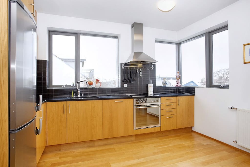 Modern kitchen with dishwasher. Fully equipped
