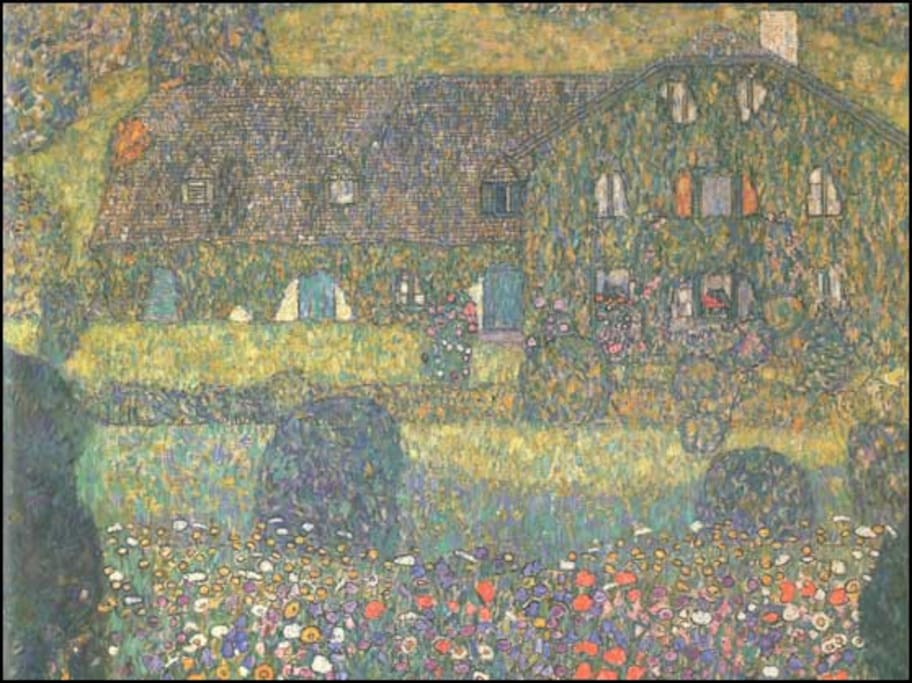 Klimt painting of The Foresters House