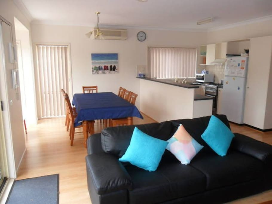 Living, Dining Rooms and Kitchen