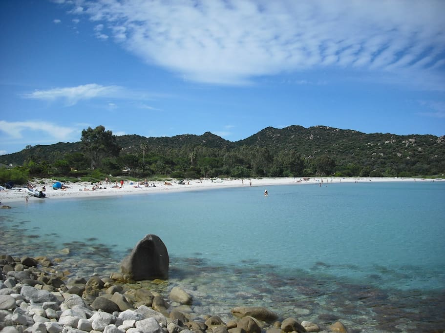 the beach of Cala Pira, 100 mt from the house