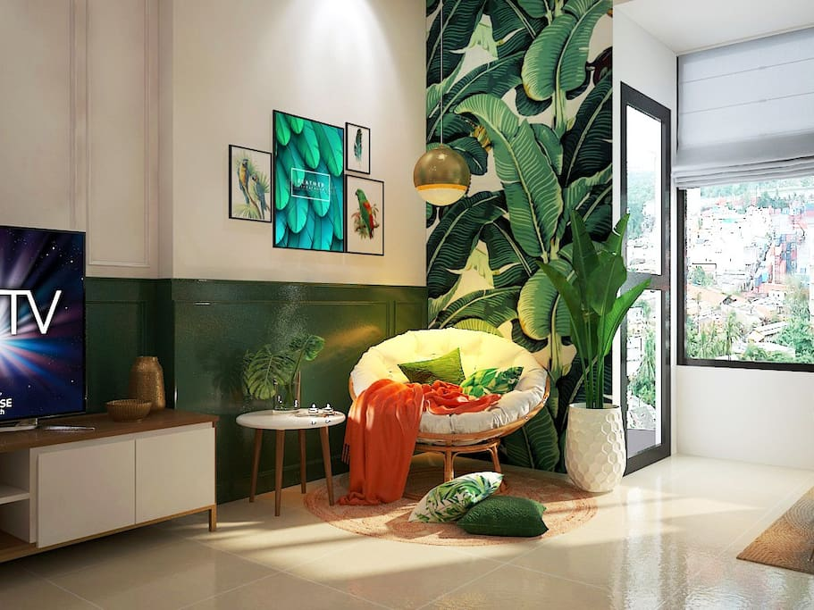 Nhi's Lovely Green Apartment